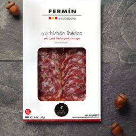 Sliced Iberico Pok Sausage | Salchichon Iberico en lonchas | Cured Meat | Fermin Ibericos | Spanish Food