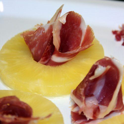 Jamon con Piña | Pineapple with Ham | Recipe with Serrano | Receta de Jamon