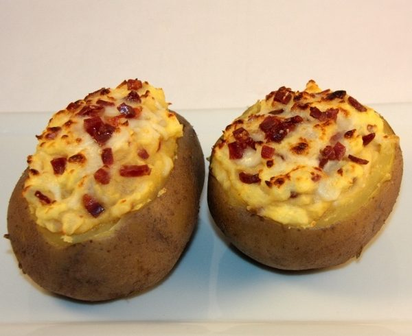 Stuffed Potatoes with Iberico Ham and Cheese