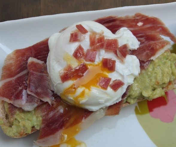 Guacamole and Iberico Ham Toast