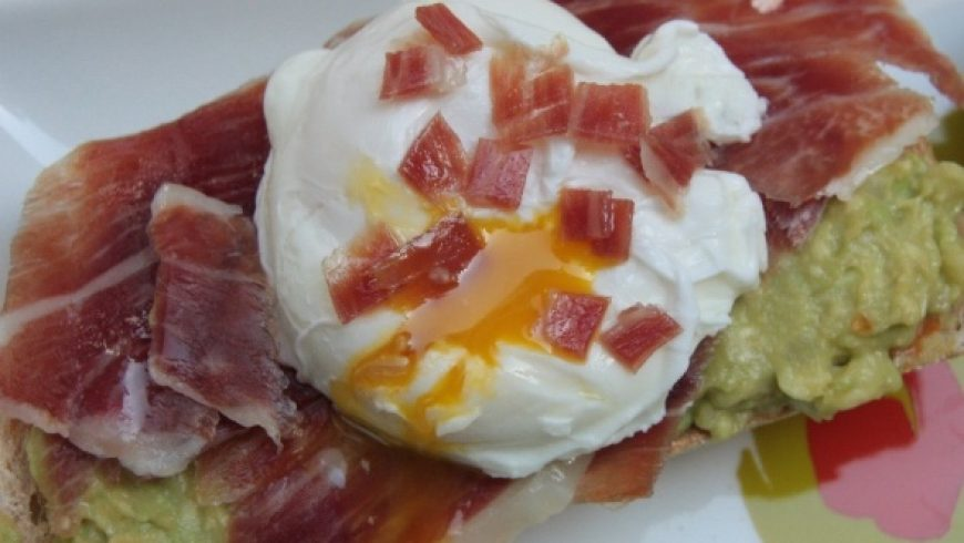 Guacamole and Iberico Ham Toast