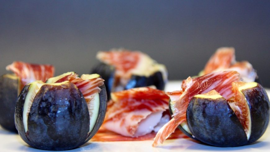 Figs with Jamon Serrano and Iberico Cheese