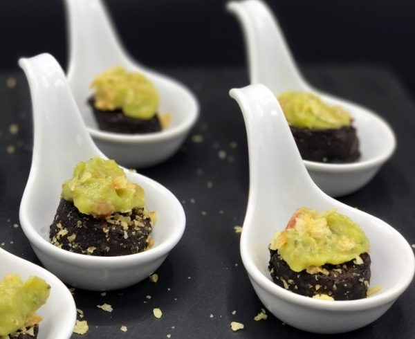 Rice Morcilla Spoon Appetizer