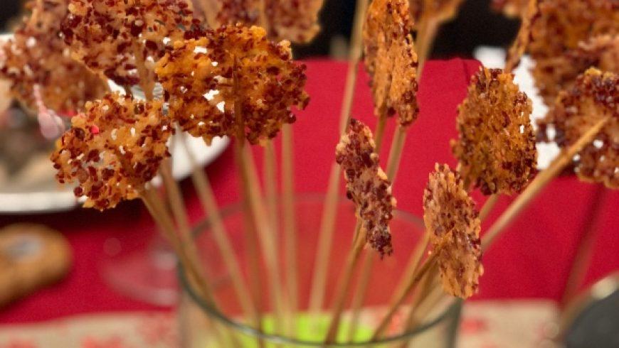 Iberico Ham & Parmesan Lollipops